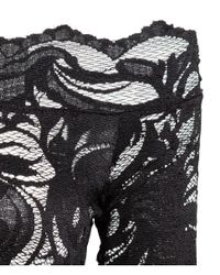 H&M | Black Lace Off-the-shoulder Top | Lyst