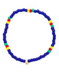 Luis Morais | Blue Mini Skull Beaded Bracelet for Men | Lyst
