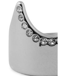 Vita Fede | Metallic Silver-plated Swarovski Nail Ring | Lyst