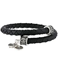 ALEX AND ANI | Black Indie Spirit Braided Leather Wrap Bracelet | Lyst