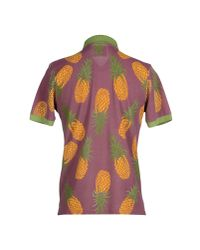 Roy Rogers Purple Polo Shirt for men