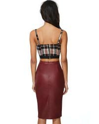 Nasty Gal | Brown Addiction Faux Leather Skirt | Lyst