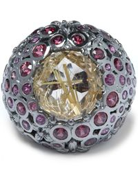 Stephen Dweck | Purple Garnet Rutile Orb Ring | Lyst