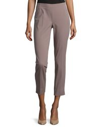Lafayette 148 New York | Purple Stanton Straight-leg Ankle Pants | Lyst