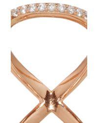 Fallon | Metallic Rose Gold Pavé Infinity Ring | Lyst