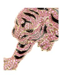 Roberto Cavalli | Pink Crystal-Embellished Necklace | Lyst