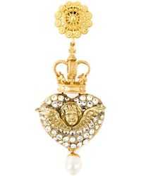 Dolce & Gabbana | Metallic Crowned Cherub Clip-on Earrings | Lyst