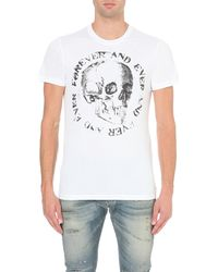 DIESEL | White T-isem-add Cotton-jersey T-shirt for Men | Lyst