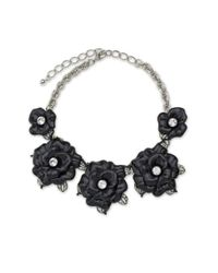 Kenneth Jay Lane | Black Graduating Flower Necklace | Lyst