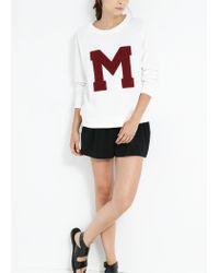 Mango - White M Sweatshirt for Men - Lyst