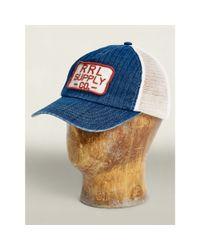 RRL - White Herringbone Shop Trucker Cap for Men - Lyst