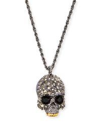 Alexis Bittar - Metallic Elements Crystal Skull Pendant Necklace for Men - Lyst