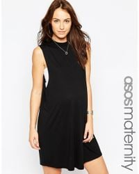 ASOS | Black T-shirt Dress With Drop Armhole | Lyst