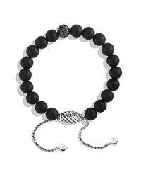 David Yurman | Black Spiritual Bead Bracelet With Diamonds, 8mm | Lyst