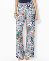Ralph Lauren | Blue Petite Paisley Print Pants | Lyst