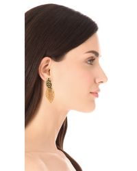 Oscar de la Renta | Metallic Leaf Clip On Earrings | Lyst