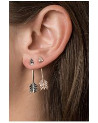 Pamela Love - Metallic Shooting Arrow Earring In Silver - Lyst
