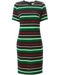 MICHAEL Michael Kors - Black Shortsleeved Striped Dress - Lyst