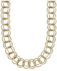 Betsey Johnson - Metallic Textured Round-link Necklace - Lyst