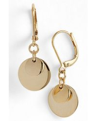 Lauren by Ralph Lauren | Metallic Disc Drop Earrings | Lyst