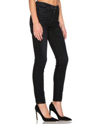 7 For All Mankind - B(air) Distressed Skinny Ankle Jeans In Black - Lyst