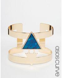 ASOS | Blue Sleek Cuff Bracelet | Lyst