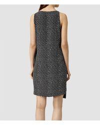 AllSaints - Black Alize K Crush Dress - Lyst