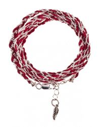 Only Noa Chez Carré Y. | Brown Cherry Braided Bracelet | Lyst
