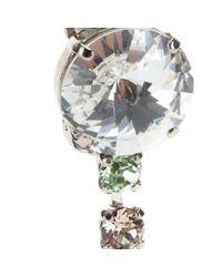 Miu Miu - Gray Crystal-Embellished Clip-On Earrings - Lyst