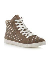 Steve Madden | Brown Twynkle Sm Studded Trainer Shoes | Lyst