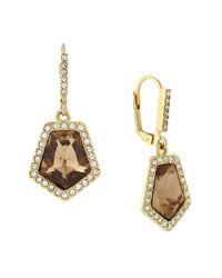 Vince Camuto | Metallic Golden Era Pentagonal Earrings | Lyst