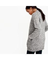 J.Crew | Gray Marled Raglan Open Cardigan Sweater | Lyst