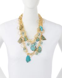 Devon Leigh | Metallic Ocean Jasper & Blue Quartz Necklace | Lyst