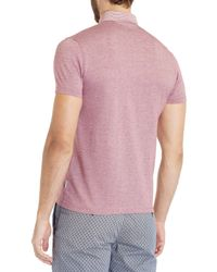 Ted Baker - Pink Plaid Collar Polo for Men - Lyst