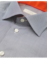 Eton of Sweden | Blue Contemporary Fit Micro Gingham Shirt for Men | Lyst