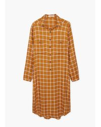 Mango | Orange Chest-pocket Check Shirt | Lyst