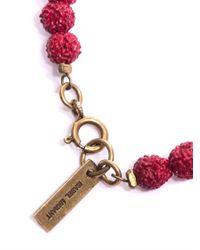 Isabel Marant - Textured Bead Tassel Bracelet - Lyst