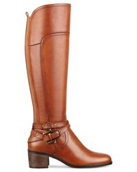 Marc Fisher | Brown Kacee Tall Wide Calf Riding Boots | Lyst