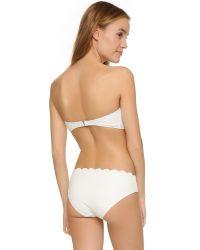 kate spade new york - White Marina Piccola Polka Dot Bikini Top - Lyst
