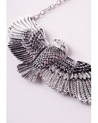 Missguided | Metallic Darylle Eagle Necklace | Lyst