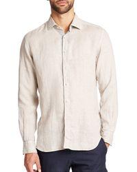 Saks Fifth Avenue | Orange Linen Sportshirt for Men | Lyst