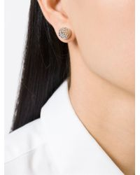 Givenchy - Metallic Double Cone Earrings - Lyst