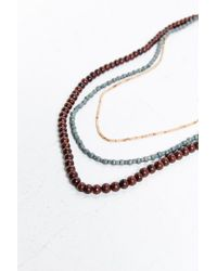 Urban Outfitters - Brown Wooden Bead Necklace Set - Lyst