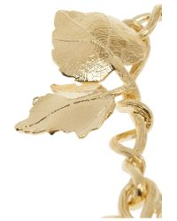 Aurelie Bidermann | Metallic Tangerine Gold-Plated Leaf Necklace | Lyst