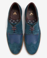 Ted Baker | Blue Suede Derby Brogues for Men | Lyst