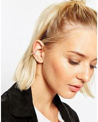 ASOS - Metallic Open Triangle Ear Cuff - Lyst