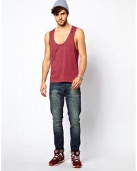 ASOS | Red Vest with Deep Scoop Neck for Men | Lyst
