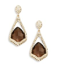 Alexis Bittar | Metallic Miss Havisham Smoky Quartz & Crystal Drop Earrings | Lyst