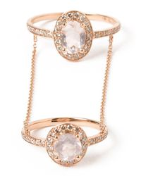 Elise Dray | Pink 'hippy Marquise' Double Ring | Lyst