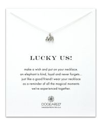 Dogeared | Metallic Lucky Us Reminder Necklace | Lyst